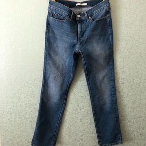 Levi's Medium Wash 312 Slim Shaping Ankle Jean